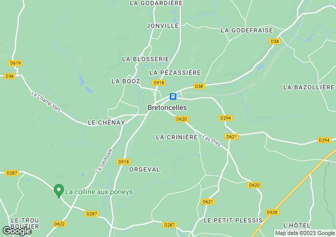 Map for Normandy, Orne, Bretoncelles