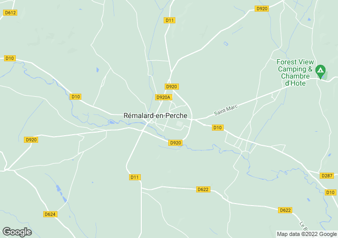 Map for remalard, Orne, France