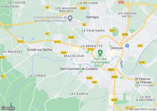 Map for Normandy, Orne, St-Germain-du-Corbéis