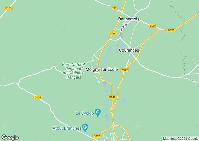 Map for MOIGNY SUR ECOLE, Île-de-France