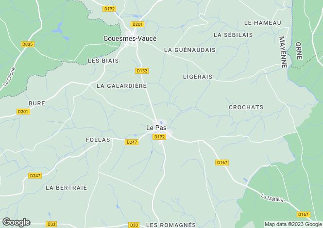 Map for Le Pas ,Pays de la Loire ,France