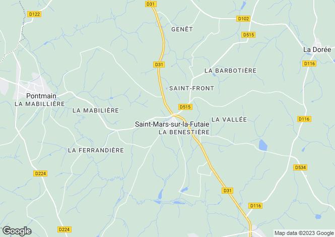 Map for Pays de la Loire, Mayenne, St-Mars-sur-la-Futaie