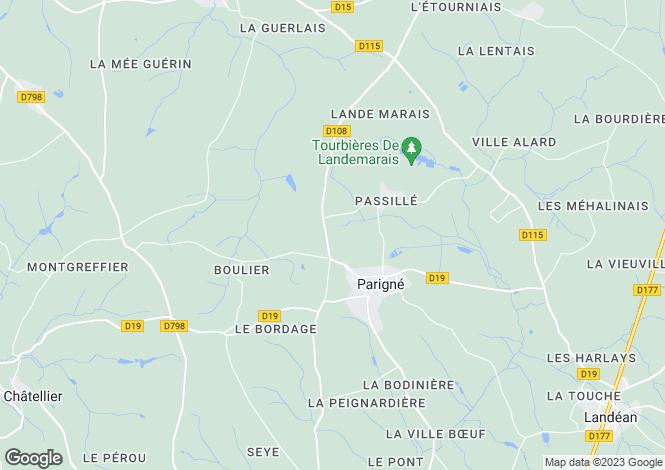Map for parigne, Ille-et-Vilaine, France