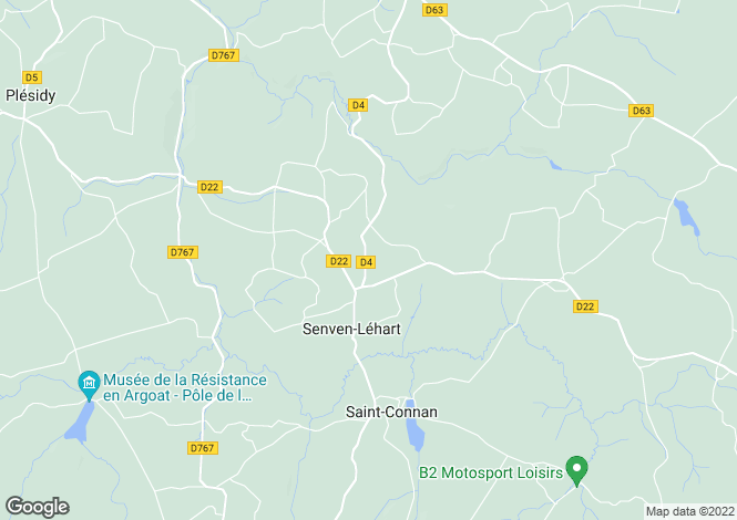 Map for senven-lehart, Côtes-d'Armor, France