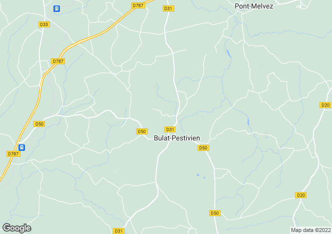 Map for Bulat-Pestivien ,Brittany ,France