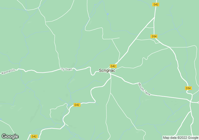 Map for Scrignac, Finistère, Brittany