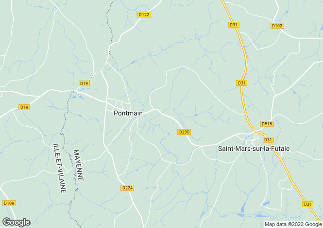 Map for PONTMAIN, 53220, France