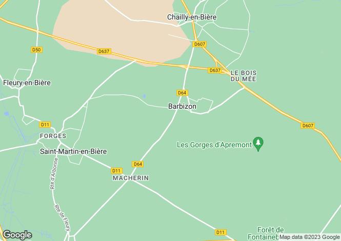 Map for BARBIZON, Île-de-France