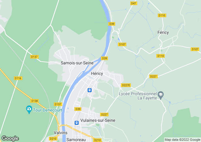 Map for 77850 HERICY, Seine-et-Marne, France