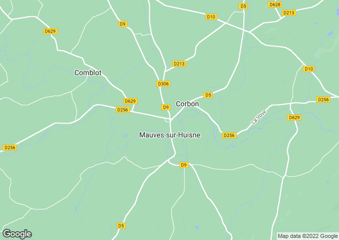 Map for Normandy, Orne, Mauves-sur-Huisne
