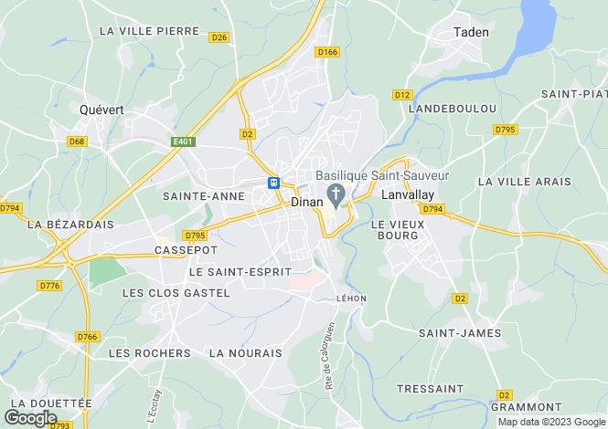 Map for dinan, Côtes-d'Armor, France