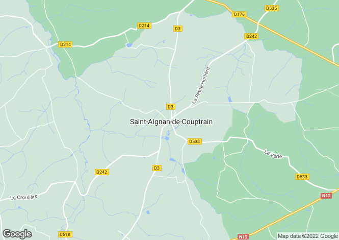 Map for St-Aignan-de-Couptrain, Mayenne, Pays de la Loire