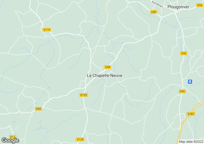 Map for La Chapelle-Neuve, Côtes-d`Armor, Brittany