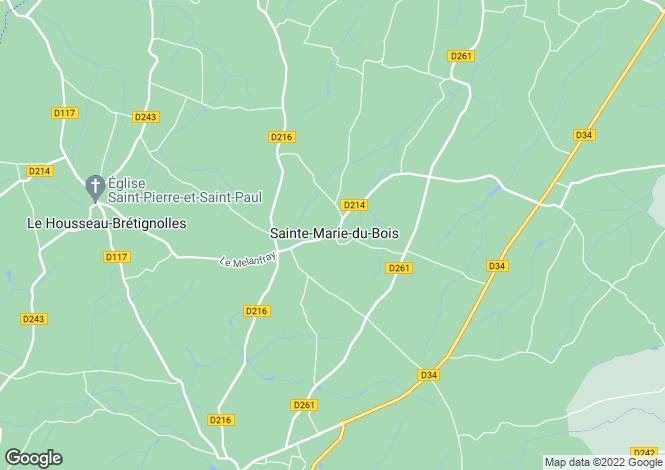Map for ste-marie-du-bois, Mayenne, France