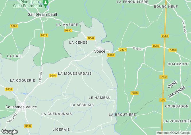 Map for Pays de la Loire, Mayenne, Souce