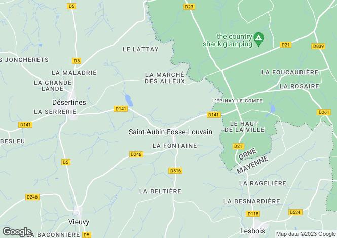 Map for st-aubin-fosse-louvain, Mayenne, France