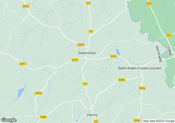 Map for Désertines, Mayenne, Pays de la Loire
