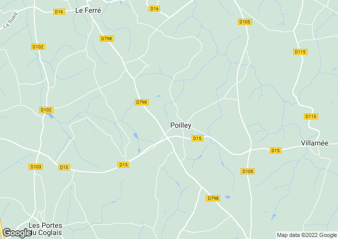 Map for poilley, Ille-et-Vilaine, France