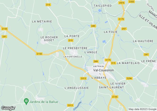 Map for Brittany, Ille-et-Vilaine, La Fontenelle