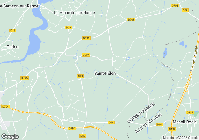 Map for Saint Helen, Bretagne, 22100, France