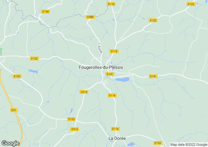 Map for Fougerolles-du-Plessis, Mayenne
