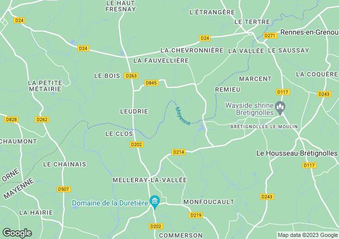 Map for Normandy, Orne, Bagnoles-de-l`Orne