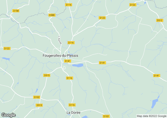 Map for Pays de la Loire, Mayenne, near Fougerolles du Plessis
