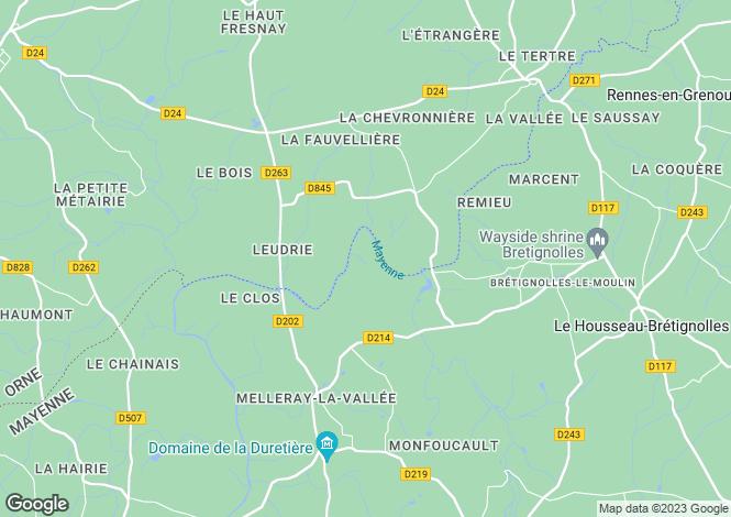 Map for Ambrières-les-Vallées, Mayenne, Pays de la Loire
