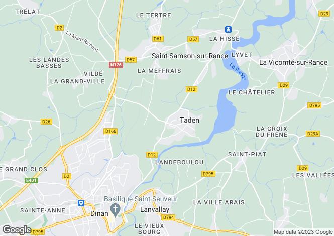 Map for Taden, Cotes-d'Armor