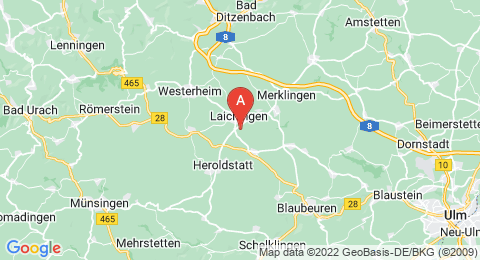 map of Laichingen Vertical Cave (Germany)