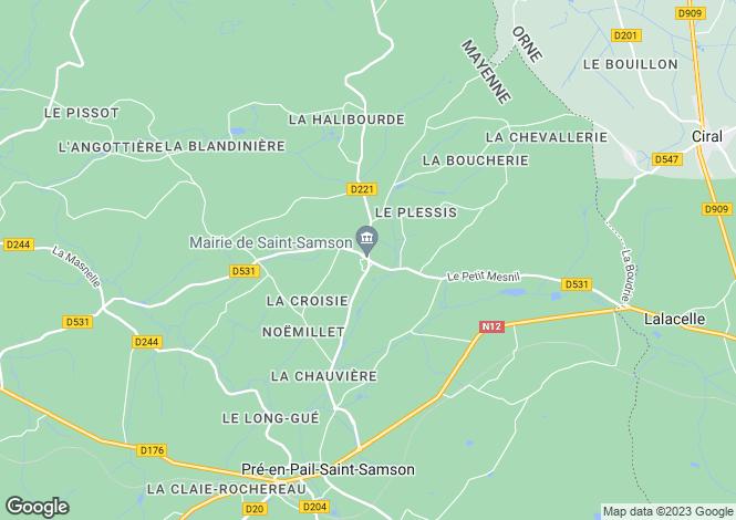 Map for st-samson, Mayenne, France