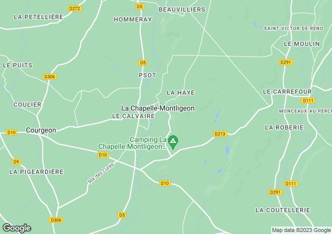 Map for Normandy, Orne, La Chapelle-Montligeon