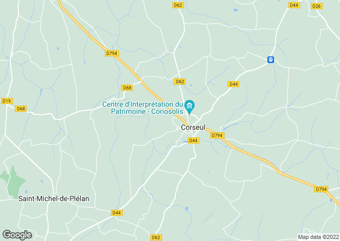 Map for corseul, Côtes-d'Armor, France