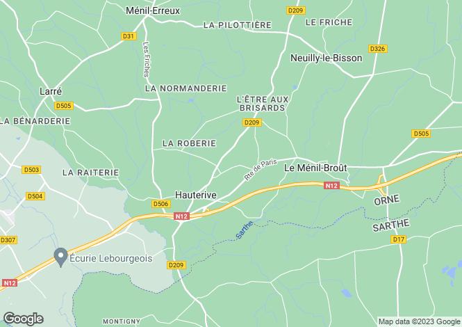 Map for Alençon, Orne, Normandy