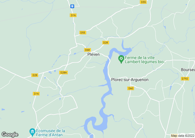 Map for plorec-sur-arguenon, Côtes-d'Armor, France