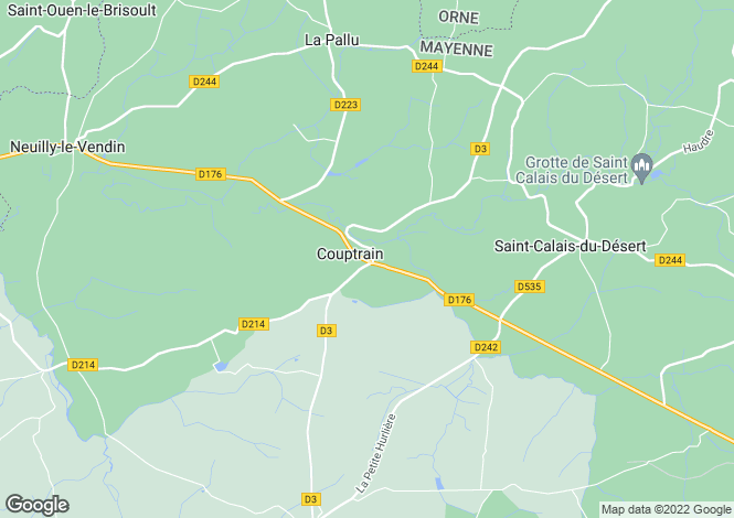 Map for Couptrain, Mayenne, Pays de la Loire