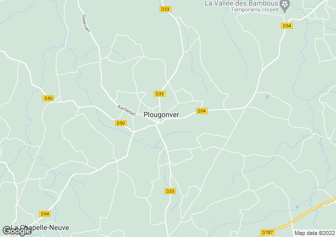 Map for Plougonver ,Brittany ,France