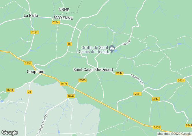 Map for pre-en-pail, Mayenne, France