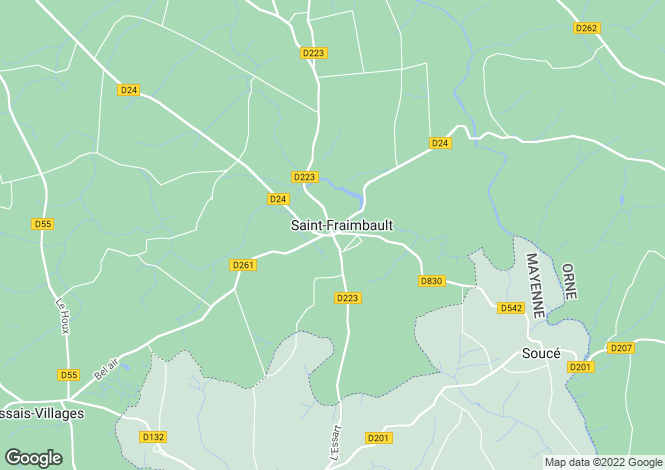 Map for st-fraimbault, Orne, France