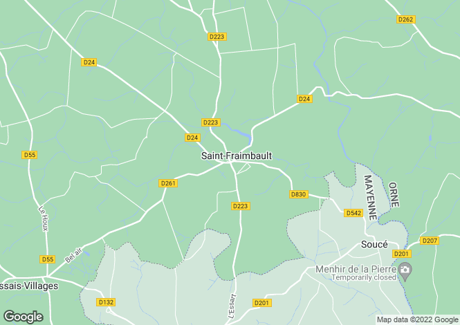 Map for Saint Fraimbault, Orne, Normandy