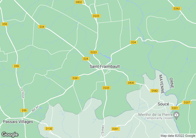 Map for Saint Fraimbault, Orne, Normandy