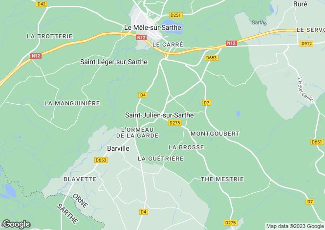 Map for st-julien-sur-sarthe, Orne, France