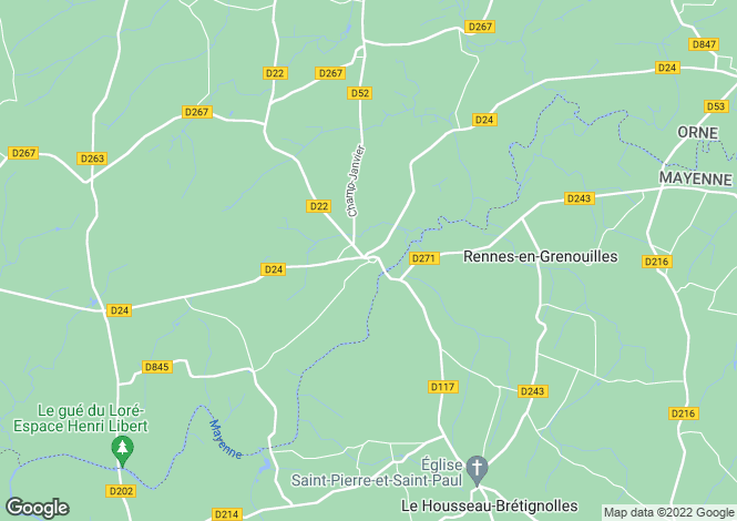Map for Normandy, Orne, Sept-Forges