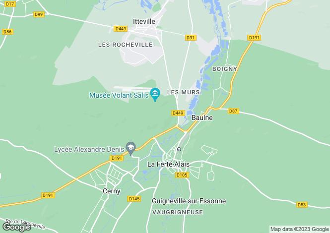 Map for la ferté-alais, Île-de-France