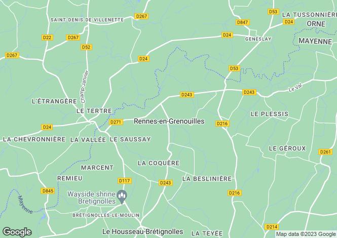 Map for rennes-en-grenouilles, Mayenne, France