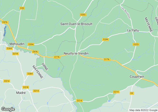 Map for Neuilly-le-Vendin, Mayenne, Pays de la Loire