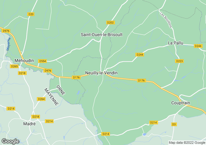 Map for neuilly-le-vendin, Mayenne, France