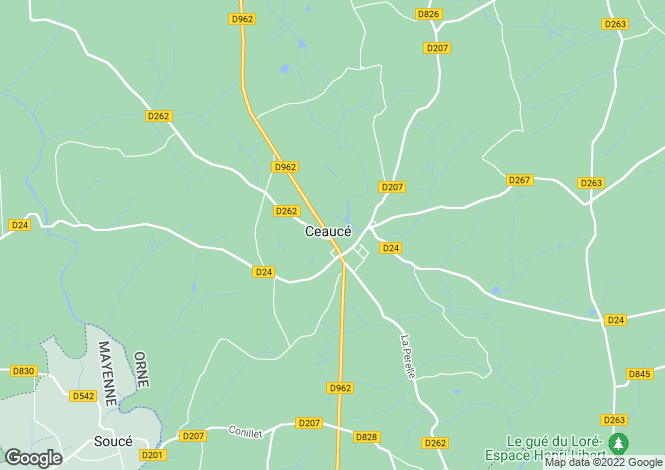Map for Ceauce, Orne, 61330, France