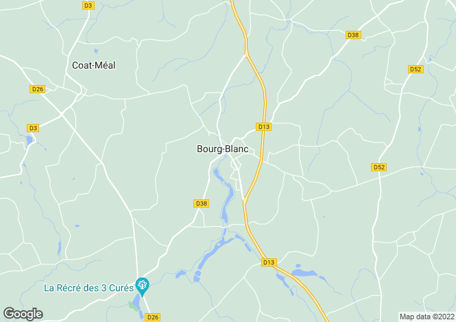 Map for BOURG BLANC,