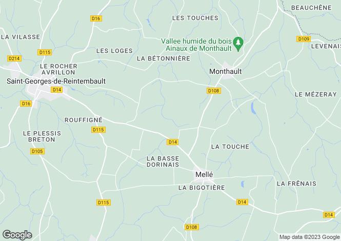 Map for Melle, Ille-et-Vilaine, 35420, France